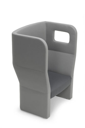 Contemporary visitor armchair / fabric / high-back / gray ORACLE : OR 100H  by Orlandini Design True Design srl