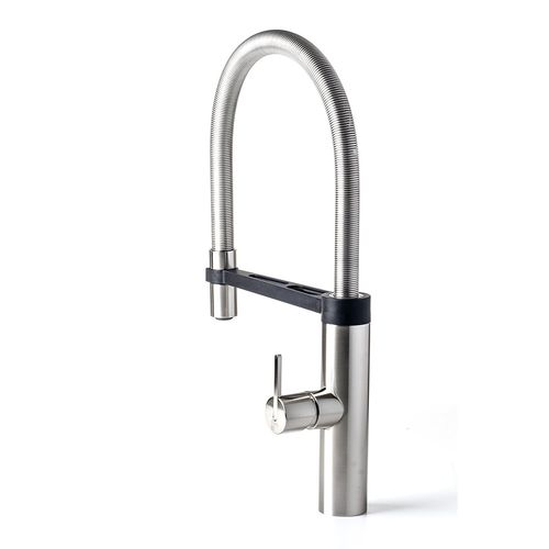 stainless steel mixer tap / ceramic / kitchen / 1-hole