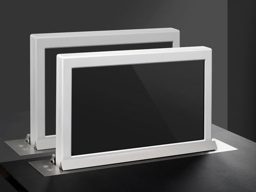 Conference table touch screen / wall-mounted / retractable DYNAMIC1TWIN Arthur Holm