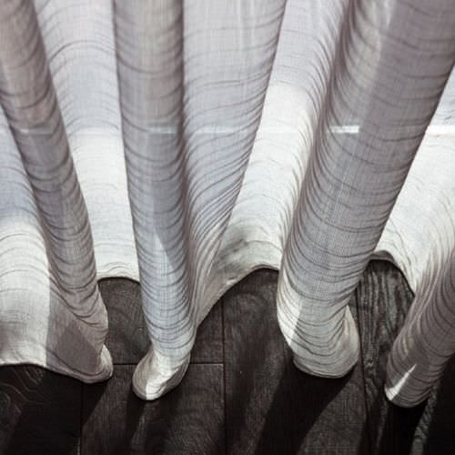 plain sheer curtain fabric / polyester