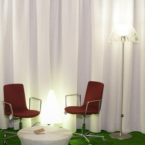 curtain fabric / plain / polyester / contract