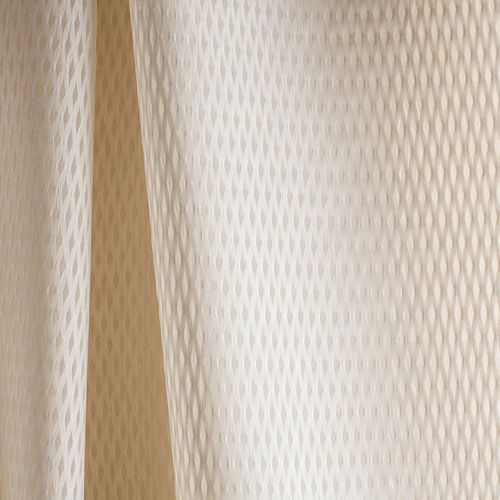 plain sheer curtain fabric / cotton / polyester