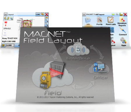 Design software / data management MAGNET FIELD LAYOUT Topcon Positioning Systems Inc