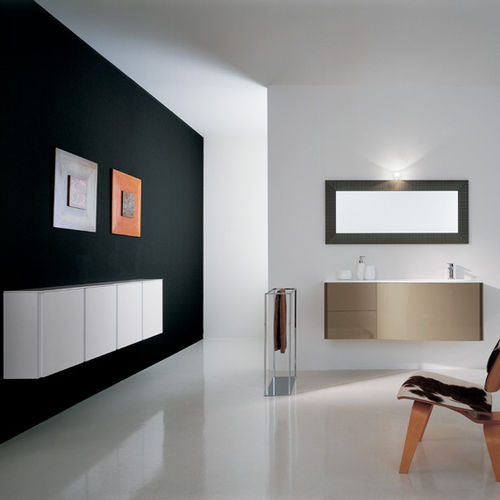 Wall-hung washbasin cabinet / wooden / contemporary / lacquered MAX: X04 novello