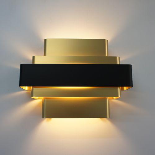 minimalist design wall light / aluminum / incandescent / white