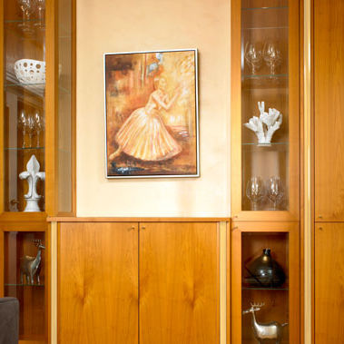 furniture panel / wood / for interior / 3-layer