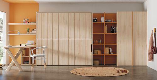 contemporary wardrobe / wooden / with sliding door / child's
