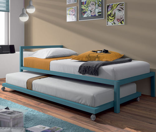 canopy bed / single / contemporary / with headboard