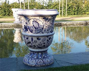 classic vase / ceramic / handmade