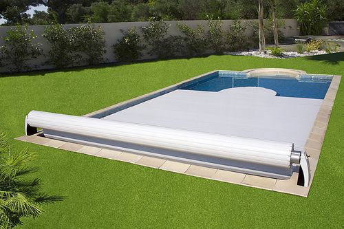 automatic swimming pool cover / security / slatted / for above-ground pools