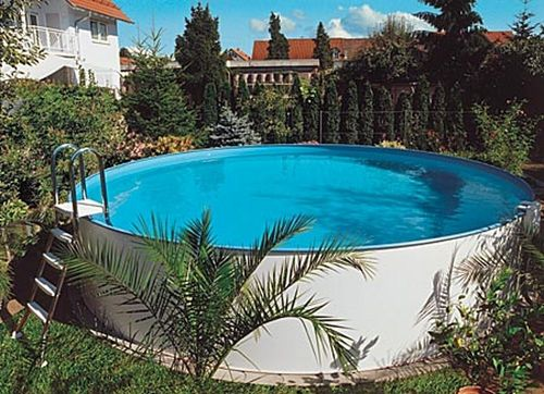 Above-ground swimming pool / polyester / polymer wall / outdoor MTH