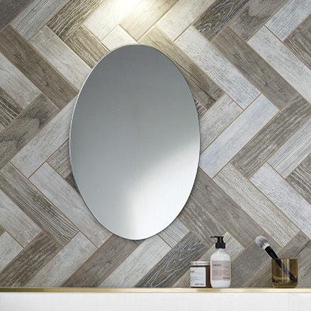 bathroom tile / wall / porcelain stoneware / rectangular