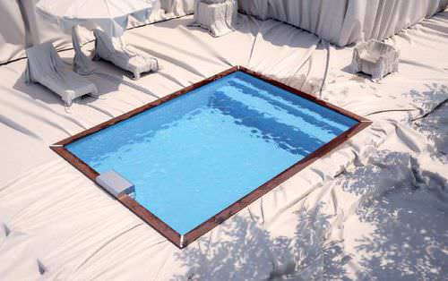 in-ground swimming pool / wooden / outdoor