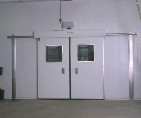 sliding industrial door / stainless steel / automatic / for the food industry & Sliding industrial door / stainless steel / automatic / for the food ...