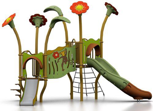 public entity play structure / plastic / steel / HPL