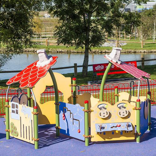 Plastic play structure / steel / HPL / for playgrounds PICCOLO 2 CARTOON : JPX-0015 HUSSON INTERNATIONAL
