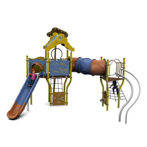playground play structure / plastic / steel / HPL