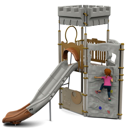 Plastic play structure / steel / HPL / for playgrounds CAMELEO 1 HISTORIC : JCX-0005  HUSSON INTERNATIONAL