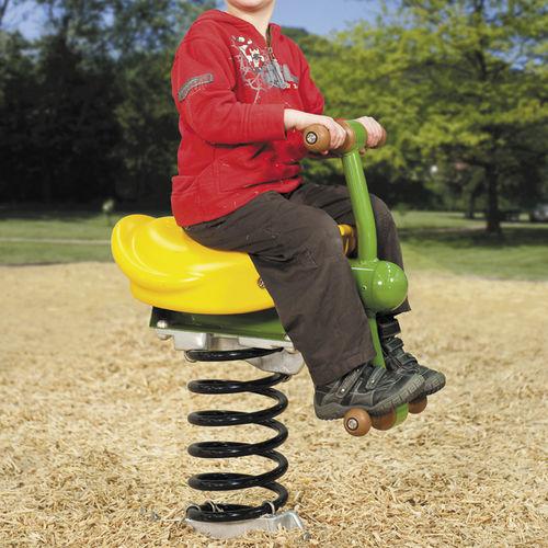 plastic spring rocker / metal / transport / 1-seat