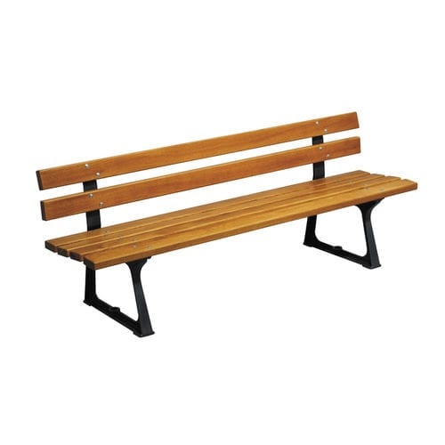 Public bench / traditional / wooden / cast iron CHANTILLY HUSSON INTERNATIONAL