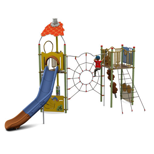 Plastic play structure / steel / HPL / for playgrounds CAMELEO 2 CARTOON : JCX-0011  HUSSON INTERNATIONAL