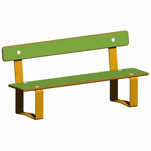 public bench / contemporary / steel / HPL