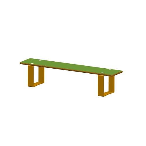public bench / contemporary / steel / composite