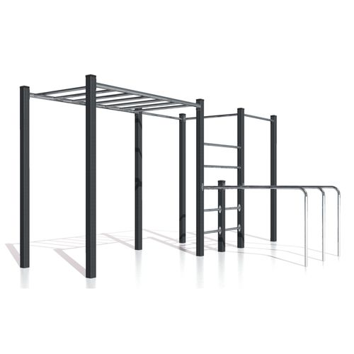 fitness trail ladder / metal / suspension