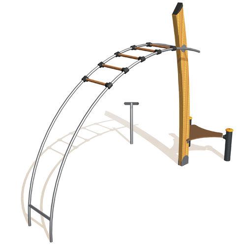 fitness trail ladder / metal / horizontal