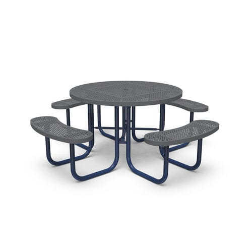 contemporary picnic table / steel / round / for playgrounds