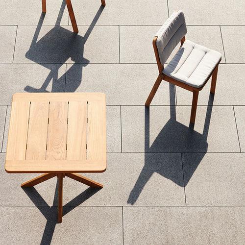traditional table / teak / rectangular / square