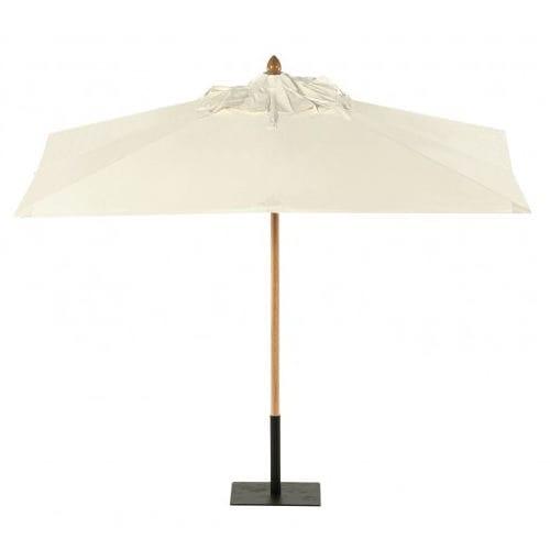 wrought iron patio umbrella / canvas / wooden