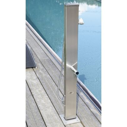 pool outdoor shower / stainless steel / commercial / home