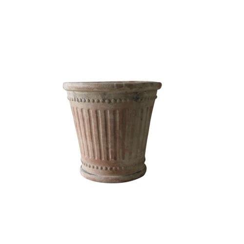 terracotta garden pot / conical