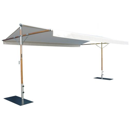 free-standing awning / manual / double-slope / white