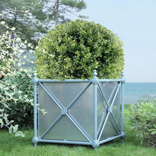 aluminum planter / square / traditional