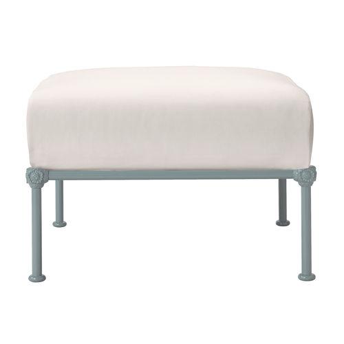 traditional footrest / fabric / aluminum / garden