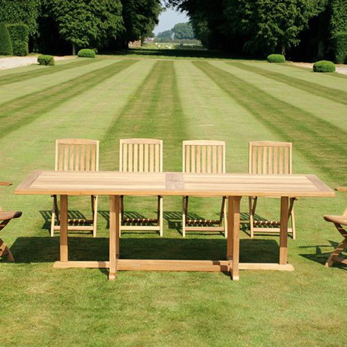 contemporary table / teak / rectangular / square