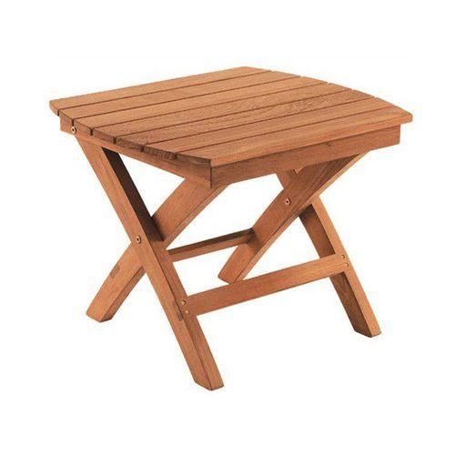 traditional side table / teak / rectangular / square