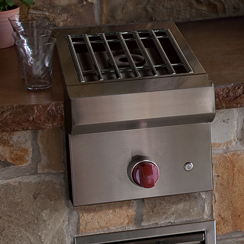 gas barbecue / built-in / stainless steel