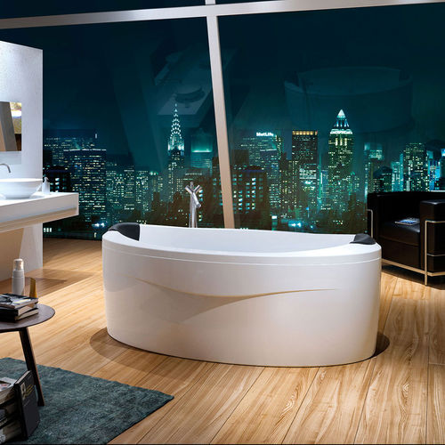 Free-standing bathtub / oval / acrylic / chromotherapy ARENA by Phoenix Design GLASS 1989