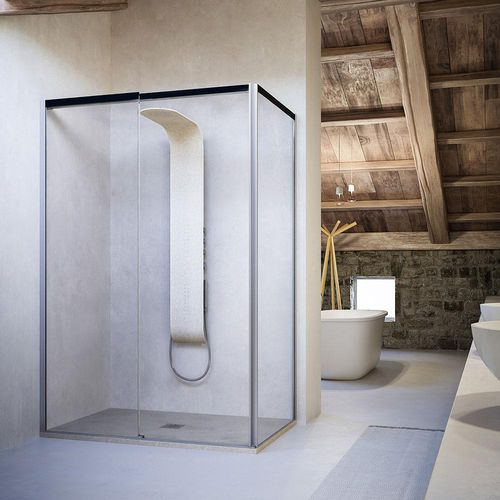 sliding shower screen / corner / glass