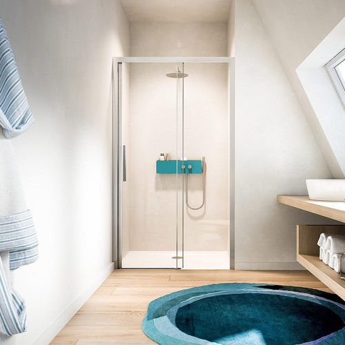 Sliding shower screen / for alcoves LIBERA: LO GLASS 1989