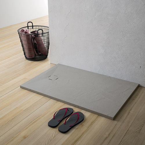 rectangular shower base / ceramic / non-slip