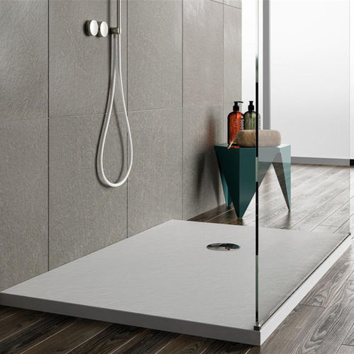 acrylic shower base / rectangular / non-slip