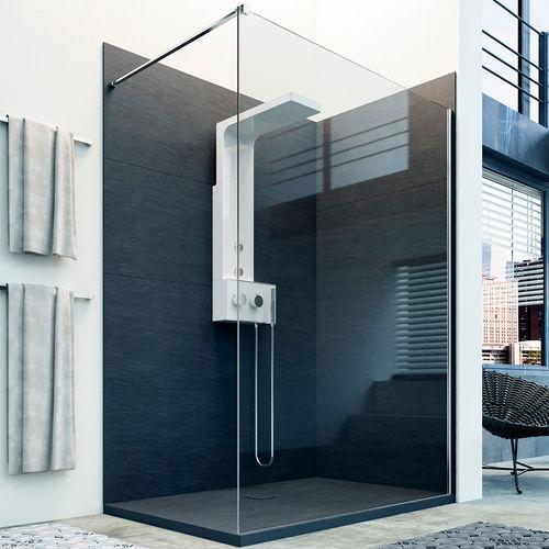 resin decorative panel / wall-mounted / bathroom / stone look