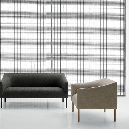 contemporary armchair / fabric / leather / by Jasper Morrison