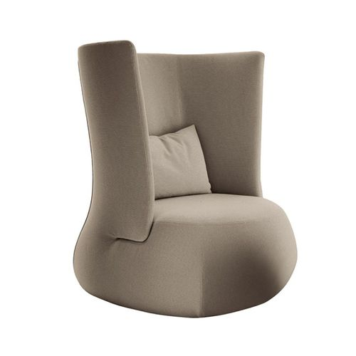 Contemporary armchair / high back / fabric / leather FAT SOFA B&B Italia