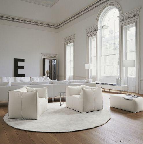 Contemporary armchair / fabric / leather / by Mario Bellini LE BAMBOLE '07 B&B Italia