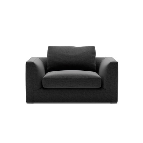 contemporary armchair / fabric / leather / by Antonio Citterio